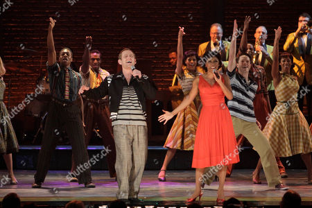"""Chad Kimball, Montego Glover Chad Kimball, left, and Montego Glover lead the cast of """"Memphis"""" in a performance during the 61st Tony Awards, in New York. """"Memphis"""" won the Tony Award for Best Musical"""