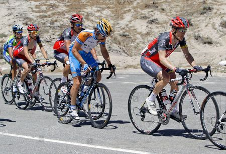 Levi Leipheimer Levi Leipheimer, right, races during the sixth stage of the Tour of California cycling race in Angeles National Forest, Calif