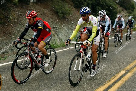 Levi Leipheimer Levi Leipheimer, left, rides with the peloton during the second stage of the Tour of California cycling race in, Pope Valley, Calif
