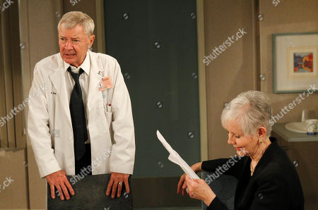 """Don Hastings, Kathryn Hays Veteran actors Don Hastings, left, and Kathryn Hays rehearse their lines at JC Studios during the final weeks of taping for CBS's soap opera """"As the World Turns,"""" in New York, . The final episode of the soap opera, which has been running since 1956, will air on Sept. 17. Hastings is a 50-year veteran of the show, while Hays has been on for 36 years"""