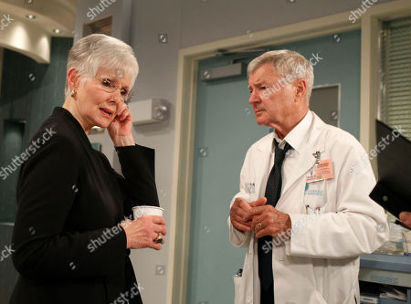 """Stock Image of Kathryn Hays, Don Hastings Veteran actors Kathryn Hays, left, and Don Hastings run through a scene at JC Studios during the final weeks of taping for CBS's soap opera """"As the World Turns,"""" in New York, . The last episode of the soap opera which has been running since 1956, is scheduled for September"""