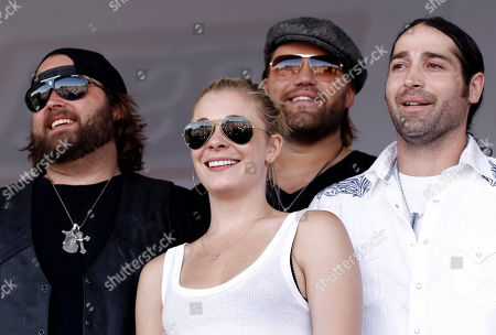 Randy Houser, LeAnn Rimes, James Otto, Josh Thompson From left, musicians Randy Houser, LeAnn Rimes, James Otto, and Josh Thompson pose together before performing at the Academy of Country Music Lifting Lives USO show for U.S. Air Force service members and their families at Nellis Air Force Base in Las Vegas, on