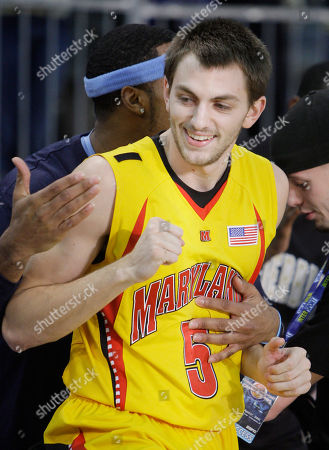 Eric Hayes Maryland's Eric Hayes (5) reacts with Marquette's Lazar Hayward after Hayes won the men's three-point basketball shooting championship in Indianapolis