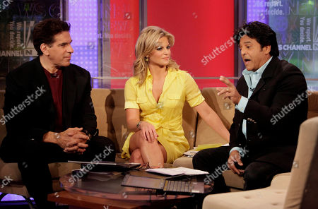 """Lou Ferrigno, Courtney Friel, Erik Estrada Lou Ferrigno, left, and Erik Estrada are interviewed by Courtney Friel during their appearance on the """"FOX & friends"""" cable television program in New York"""