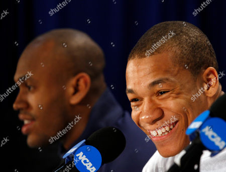 Jerome Randle, Patrick Christopher California's Jerome Randle, right, smiles during an NCAA college basketball news conference in Jacksonville, Fla., . California's Patrick Christopher, left, looks on. California is to play Duke in the second round on Sunday