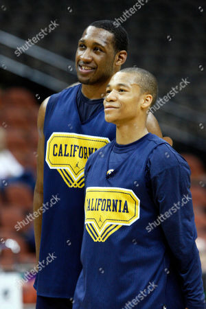 Markhuri Sanders-Frison, Jerome Randle California's Markhuri Sanders-Frison and Jerome Randle are seen during a NCAA college basketball practice in Jacksonville, Fla., . California plays Louisville in a first round game on Friday