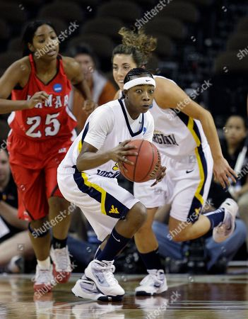 Sarah Miles West Virginia's Sarah Miles, center, moves the ball up court against Lamar during the first half of an NCAA first-round college basketball game, in Austin, Texas