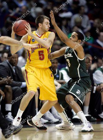 Editorial picture of NCAA Michigan St Maryland Basketball, Spokane, USA