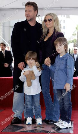 Russell Crowe, Danielle Spencer Academy Award actor Russell Crowe his wife Danielle Spencer, with their children Charles Spencer Crowe, right, and Tennyson Spencer Crowe left, is honored with a star on the Hollywood Walk of Fame, in Los Angeles