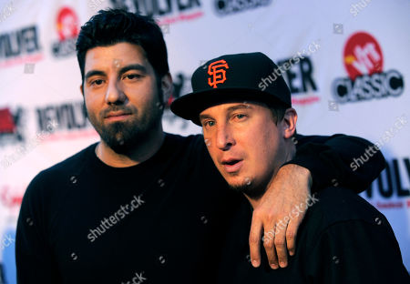 Chino Moreno, Abe Cunningham Chino Moreno, left, and Abe Cunningham of Deftones arrive at the second annual Revolver Golden Gods Awards in Los Angeles