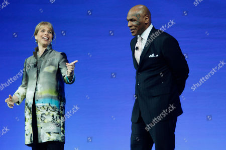 Mike Tyson, Marjorie Kaplan Mike Tyson, right, appears on stage with Marjorie Kaplan, general manager of Animal Planet during Discovery Channel's 2010-11 upfront presentation, in New York