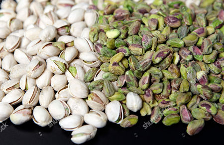 Pistachio nuts are displayed at the headquarters of Primex International Trading Corp. in Los Angeles. Ali Amin, a Persian immigrant who owns a processing plant, filed a suit last week in Fresno County Superior Court against Stewart and Lynda Resnick, claiming that they violated California public utilities laws because they turned a profit by selling water to farmers who weren't members of their Bakersfield-based water company, Westside Mutual Water Co