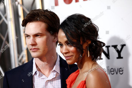 "Zoe Saldana, Keith Britton Zoe Saldana, right, and Keith Britton arrive at the premiere of ""Death at a Funeral"" in Los Angeles on"