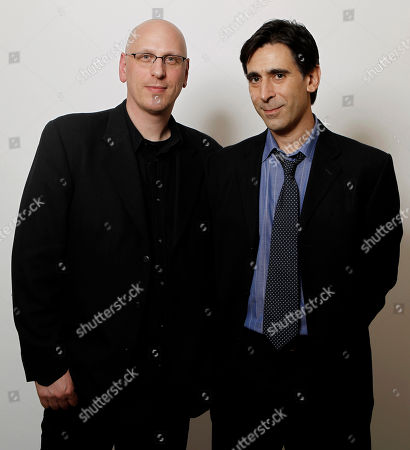 """Oren Moverman, Alessandro Camon Co-writer and director Oren Moverman, left, and co-writer Alessandro Camon, from the film """"The Messenger"""", pose for a portrait after the Academy Award Nominees Luncheon in Beverly Hills, Calif., on"""