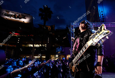 """Mason Musso Mason Musso, of the band Metro Station, performs at the Great Big Ultimate Fan Event celebrating the upcoming film """"Alice in Wonderland"""" in Los Angeles on"""