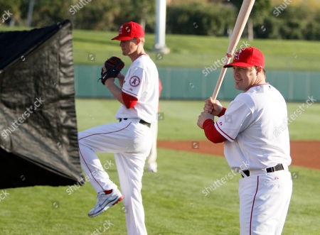 Ryan Budde, Jered Weaver Los Angeles Angels catcher Ryan Budde, right, and pitcher Jered Weaver strike poses during picture day at spring training baseball in Tempe, Ariz