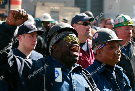 Bobby Taylor Steamfitter Bobby Taylor cheers during a rally of laborers hoping for quicker action on the the World Trade Center project, in New York