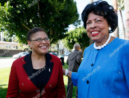 Karen Bass, Diane Watson California Assembly Speaker Karen Bass, left, poses with 33rd Congressional District Congresswoman Diane Watson after making the announcement she intends to run for Watson's seat, during a news conference in Los Angeles