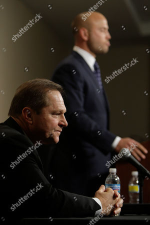 Matt Holliday, Scott Boras Sports agent Scott Boras, left, listens as one of his clients, St. Louis Cardinals outfielder Matt Holliday, right, speaks during a news conference, in St. Louis. Holliday has reportedly agreed to a $120 million, seven-year contract with the Cardinals after being dealt to the Redbirds from Oakland last season