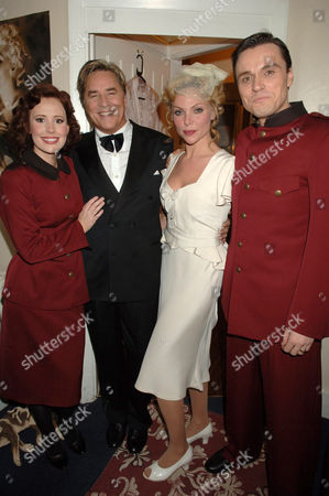 Don Johnson's first time playing Nathan Detroit. Amy Nuttall with Don Johnson, Samantha Janus and Norman Bowman