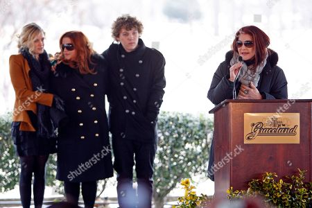 Priscilla Presley, Lisa Marie Presley, Riley Deough, Benjamin Keough Priscilla Presley, right, speaks during a ceremony commemorating Elvis Presley's 75th birthday on in Memphis, Tenn. Listening are her daughter, Lisa Marie, second from left, and Lisa Marie's children Riley Keough, 21, left, and Benjamin Keough, 18, third from left