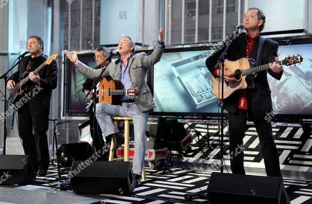 "Larry Gatlin, Steve Gatlin, Rudy Gatlin Larry Gatlin, front row center, with the Gatlin Brothers: Steve Gatlin, left, and Rudy Gatlin, right, performs on the ""Imus in the Morning"" program, on the Fox Business Network, in New York"
