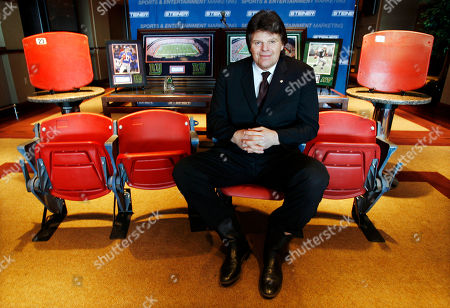 Stock Picture of Mark Gastineau Former New York Jets All-Pro defensive end, Mark Gastineau relaxes as he sits in a row of seats from Giants Stadium, in East Rutherford, N.J. Everything from seats to pieces of turf to goal posts is being sold as the 34-year-old stadium nears demolition. Fans can buy a pair of seats for $499.99, while a piece of turf will go for $29.99. Proceeds will go to the corporation that's building the new Giants Jets Stadium and tearing down the old one