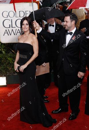 Stock Image of Courtney Cox Arquette, David Arquette Courtney Cox Arquette and David Arquette at the 67th Annual Golden Globe Awards, in Beverly Hills, Calif