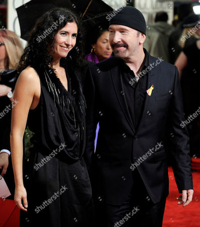 The Edge, Morleigh Steinberg The Edge from the band U2 and his wife, Morleigh Steinberg, right, arrive at the 67th Annual Golden Globe Awards, in Beverly Hills, Calif