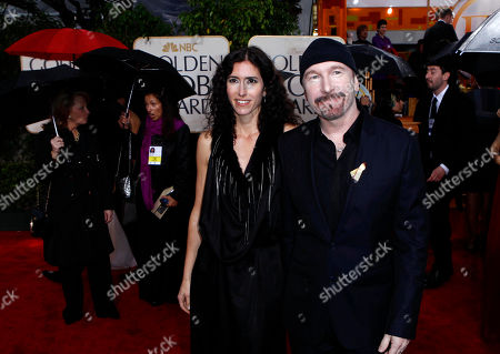 The Edge, Morleigh Steinberg The Edge, right, and Morleigh Steinberg arrive at the 67th Annual Golden Globe Awards, in Beverly Hills, Calif
