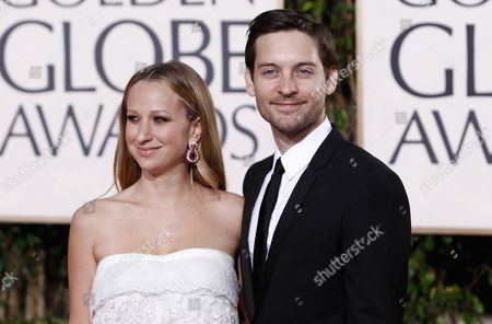 Toby Maguire, Jennifer Meyer Toby Maguire and Jennifer Meyer arrive at the 67th Annual Golden Globe Awards, in Beverly Hills, Calif