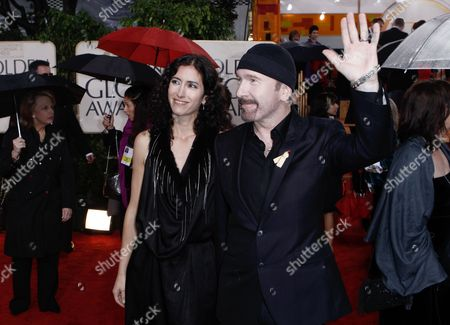 The Edge, Morleigh Steinberg The Edge and Morleigh Steinberg arrive at the 67th Annual Golden Globe Awards, in Beverly Hills, Calif