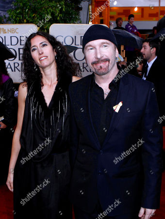 Morleigh Steinberg, The Edge The Edge, right, and Morleigh Steinberg arrive at the 67th Annual Golden Globe Awards, in Beverly Hills, Calif