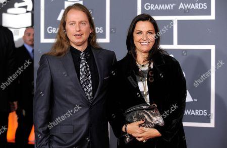 Barbara Orbison, Roy Orbison Jr Barbara Orbison and Roy Orbison Jr. arrive at the Grammy Awards, in Los Angeles