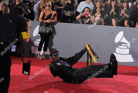 """Larry Platt Larry Platt songwriter and performer of """"Pants on the Ground"""" arrives at the Grammy Awards, in Los Angeles"""