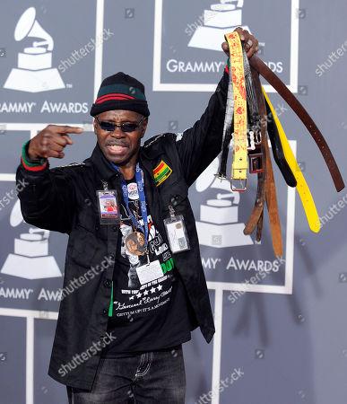 "Larry Platt Pants on the Ground"" songwriter and performer Larry Platt arrives at the Grammy Awards, in Los Angeles"