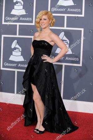 Kristine Elezaj Kristine Elezaj arrives at the Grammy Awards, in Los Angeles