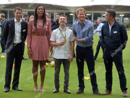 Eboni Beckford-Chambers, Max Whitlock and Prince Harry