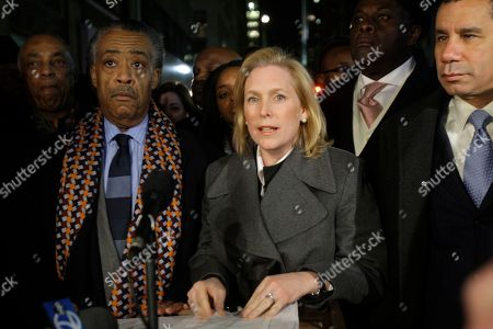 """Al Sharpton, Kirsten Gillibrand, David Patterson Rev. Al Sharpton, left, and New York Gov. David Patterson, right, look on as Senator Kirsten Gillibrand, center, speaks before a vigil to pray for Hatian earthquake victims near the Hatian Consulate in New York. Ford began crafting his argument Tuesday for a potential bid to unseat Sen. Kirsten Gillibrand, reinventing himself as an independent thinker battling """"Washington insiders"""