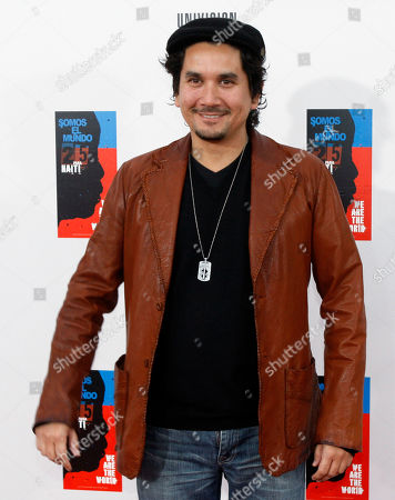 """Jorge Villamizar Colombian artist Jorge Villamizar poses for photographers on the red carpet as he goes in to record the Spanish language version of """"We Are The World"""" (Somos el Mundo) with other top Latin music artists in Miami"""