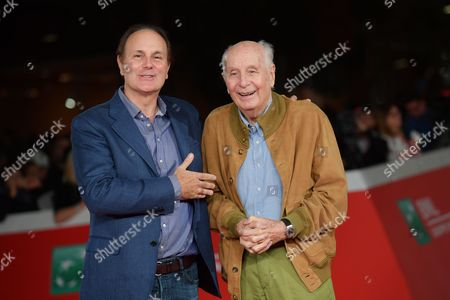 Stock Image of The director Brando Quilici with father Folco Quilici
