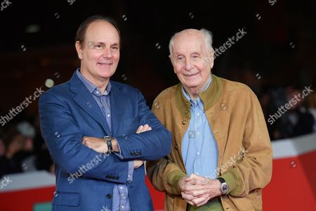 Stock Picture of The director Brando Quilici with father Folco Quilici