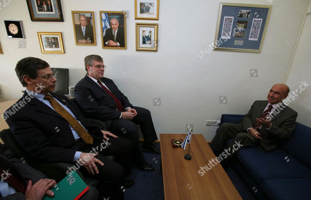 Israel's Deputy Foreign Minister, Danny Ayalon, left, meets with Turkish ambassador to Israel Ahmet Oguz Celikkol, right, in Jerusalem. An Israeli Foreign Ministry report has accused Turkey's prime minister of fueling anti-Semitism with his criticism of Israel, officials said, threatening to spark a new diplomatic row with one of Israel's few Muslim allies