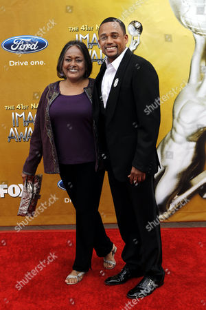 Hill Harper Hill Harper and guest arrives at the 41st NAACP Image Awards, in Los Angeles