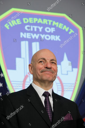 Editorial photo of NYC Fire Commisioner, New York, USA