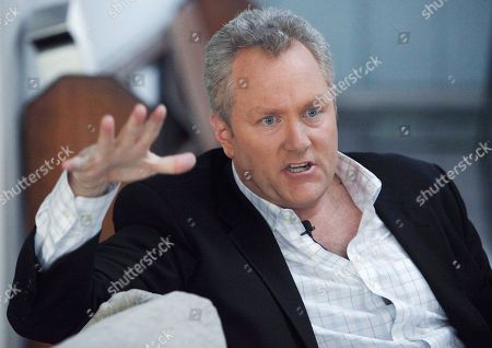 Andrew Breitbart Conservative online publisher Andrew Breitbart is seen during an interview at his home in Los Angeles. Love or hate him, you can't avoid Breitbart on cable TV these days. The 41-year-old father of four from Los Angeles has emerged as one of the most incendiary figures from the Beltway to Hollywood, a minor-league Limbaugh who mixes shock-jock calculation, conservative credo and answer-to-no-one swagger. He is the face of the new conservative outrage, exemplar of the smash-mouth politics that divide America