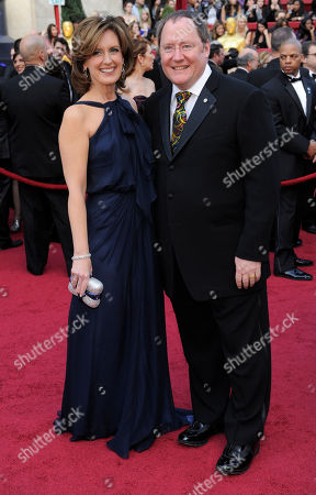 Ann Sweeney; John Lasseter Disney's Ann Sweeney and Pixar's John Lasseter arrive at the 82nd Academy Awards, in the Hollywood section of Los Angeles