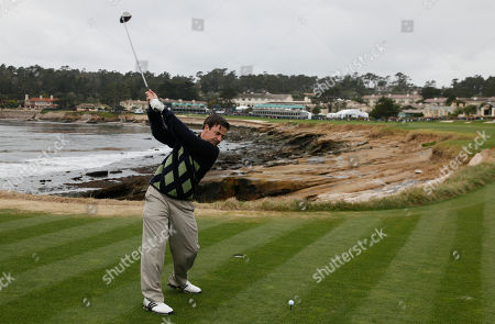 Jackie Flynn Comedian Jackie Flynn hits from the 18th tee of the Pebble Beach Golf Links during the celebrity challenge event at the AT&T Pebble Beach National Pro-Am in Pebble Beach, Calif