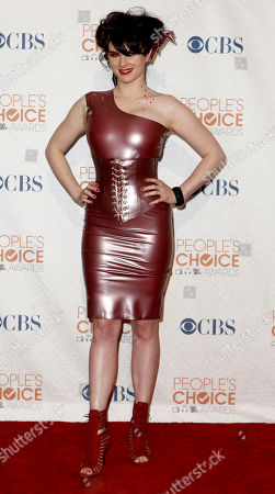 Cobra Starship Victoria Asher of Cobra Starship poses backstage at the People's Choice Awards, in Los Angeles
