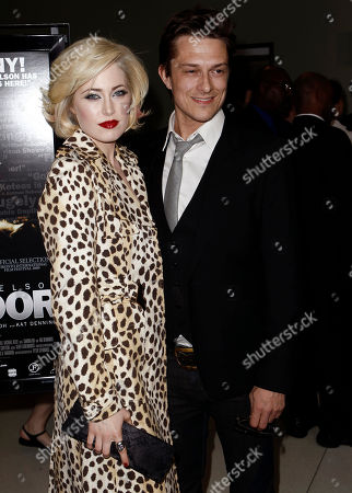"""Peter Stebbings, Charlotte Sullivan Writer and director Peter Stebbings, right, and cast member Charlotte Sullivan arrive at the premiere of """"Defendor"""" in Los Angeles on"""